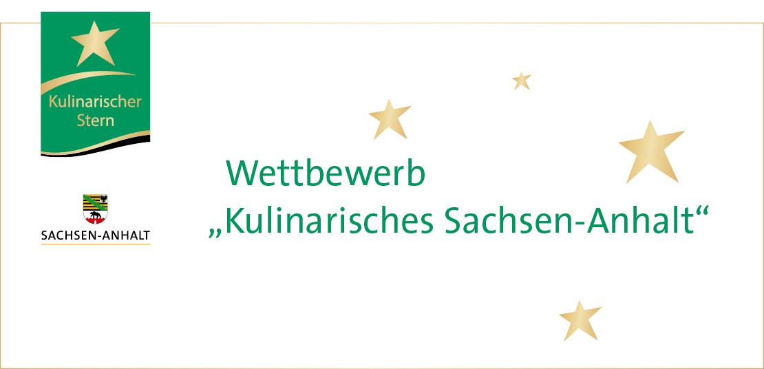 """Logo des Wettbewerbs """"Kulinarischer Stern Sachsen-Anhalt"""""""