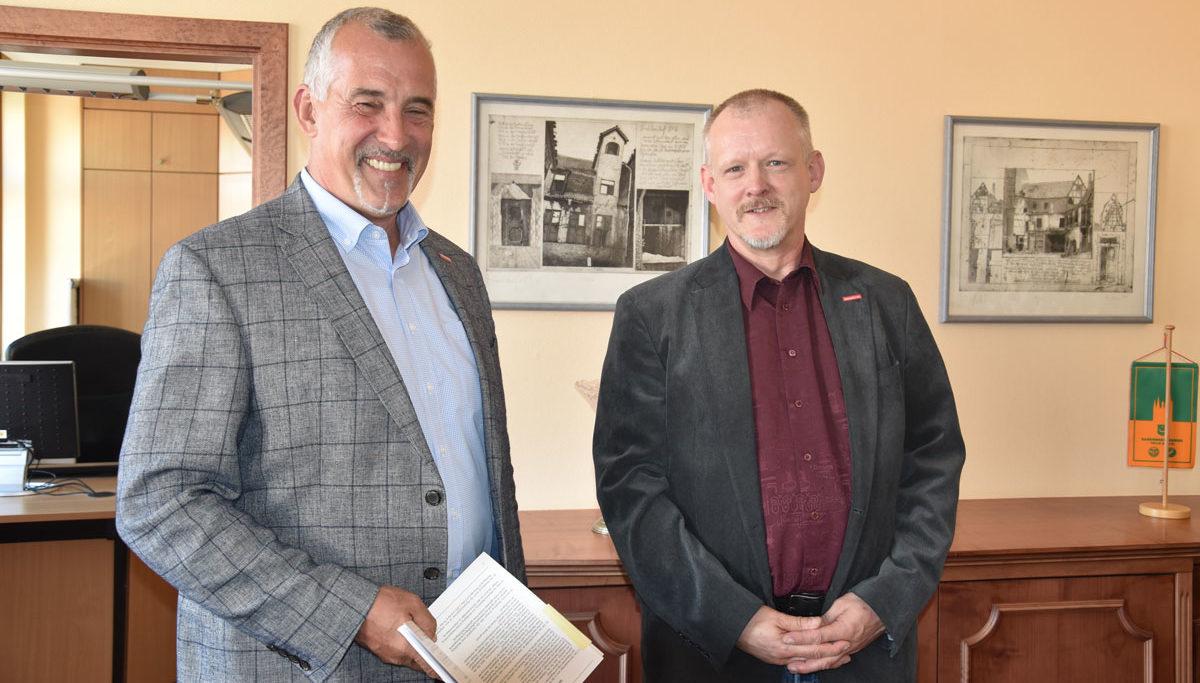 Kammerpräsident Thomas Keindorf (l.) und Martin Albrecht.