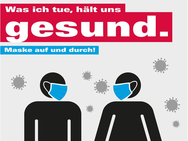 Ausschnitt des Plakates zur Mundschutzpflicht