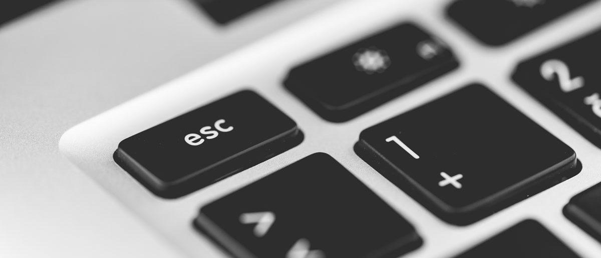 Escapetaste auf der Tastatur