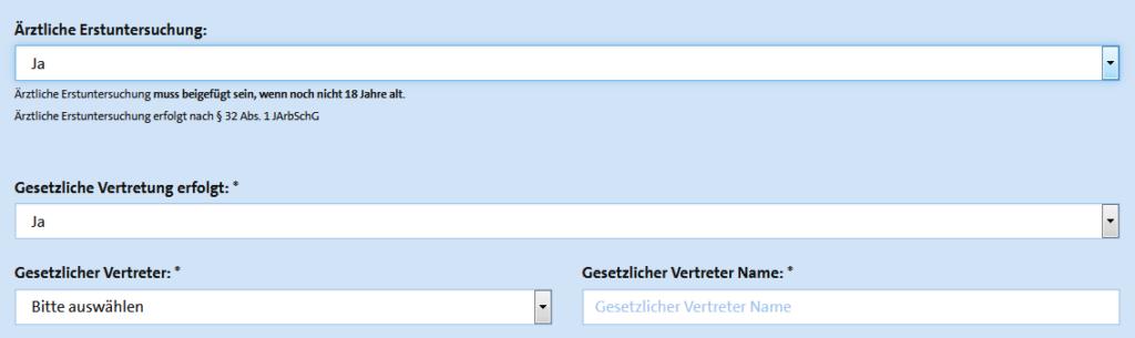 Screenshot BAV Kundenportal